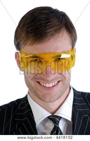Man And Plastic Glasses
