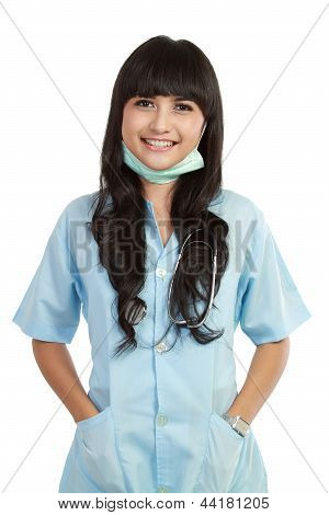 Confident Young Woman Medical Professional