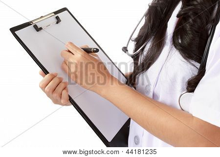 Nurse Writing Medical Records