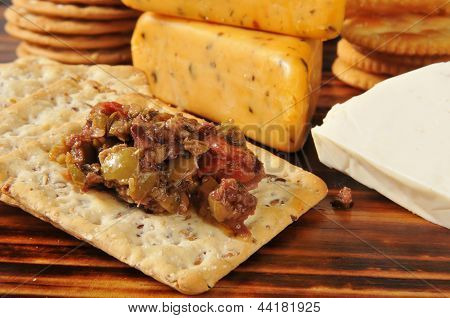 Olive Brushchetta With Crackers