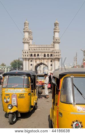 Auto Taxis at Hyderabad's Charminar