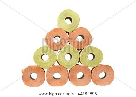 Pyramid Of Toilet Paper