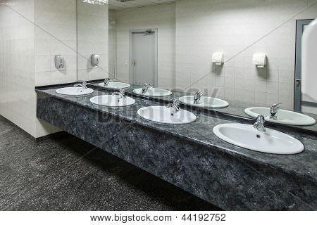 Public Empty Restroom