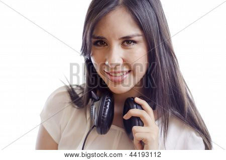 Beautiful female deejay