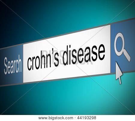 Conceito de doença de Crohn.