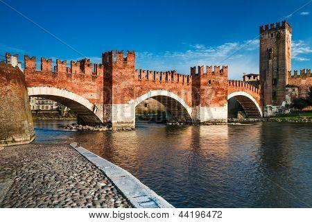 Ponte Scaligero In Verona, Italy