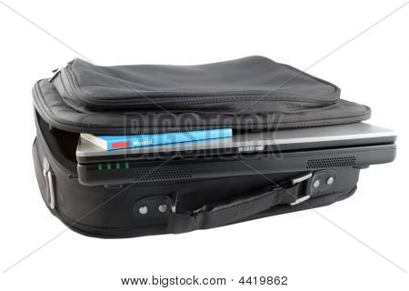 Isolated Laptop And Case