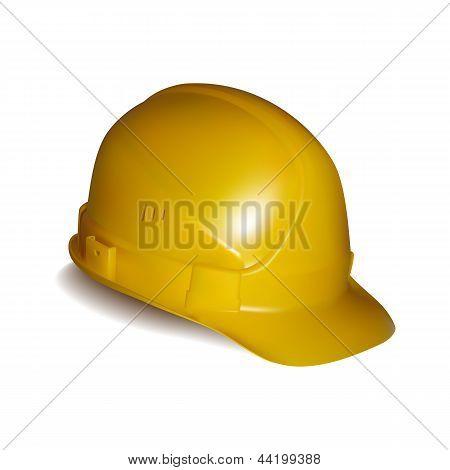 Yellow safety helmet