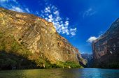 stock photo of ravines  - Inside Sumidero Canyon near Tuxtla Gutierrez in Chiapas Mexico - JPG