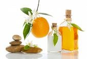 stock photo of orange blossom  - spa still - JPG