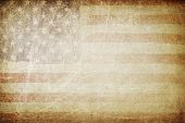 stock photo of democracy  - Grunge american flag background - JPG