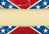 Confederate scratched flag. A confederate flag with a large frame for your message