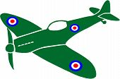 foto of spitfire  - Vector illustration of a British WW2 Spitfire plane - JPG