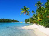 Beautiful Beach In One Foot Island, Aitutaki, Cook Islands poster