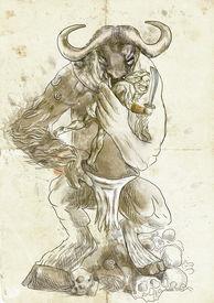 image of minotaur  - An hand - JPG