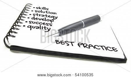 business concept - best practice