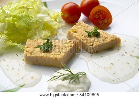 Fish Pie On A Plate With Salad