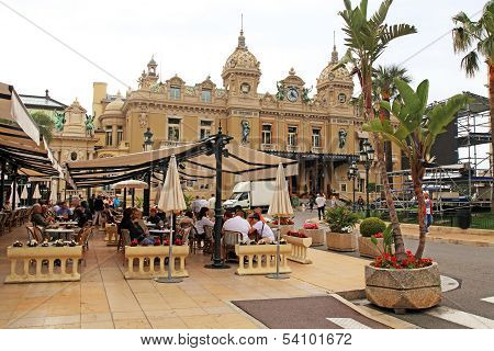 Casino Monte-carlo And Cafe De Paris In Monte Carlo, Monaco