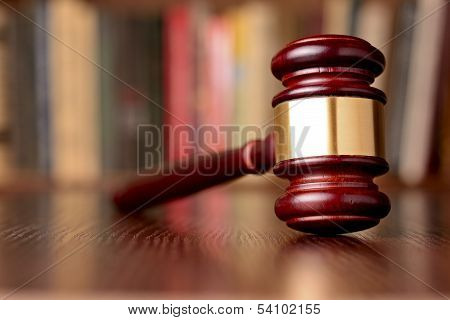 Gavel, Symbol Of Judicial Decisions And Justice