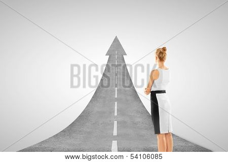 Businesswoman And Road