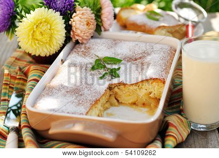 Caramel Apple Sponge Bake (pudding)
