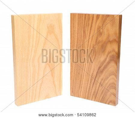 Two wooden plank close-up