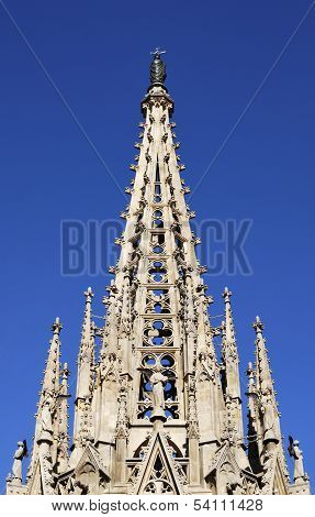 Spire On Barcelona Cathedral. Spain