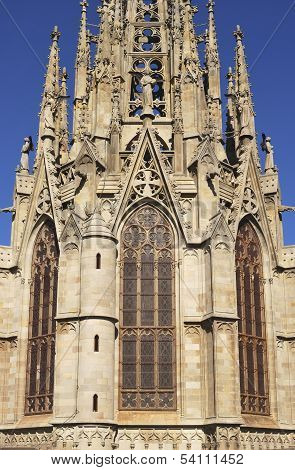 Tower On Barcelona Cathedral. Spain