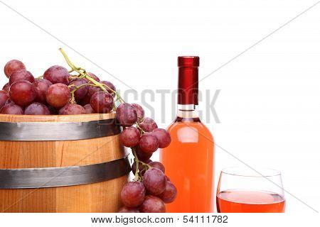 Wine composition close-up