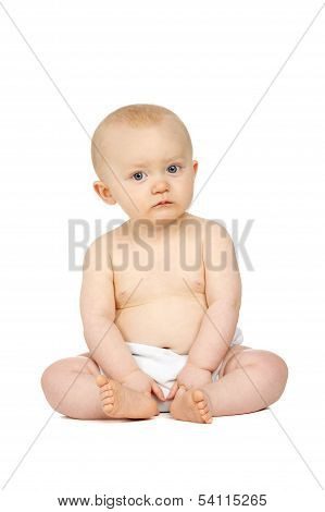 Baby Sat Isolated On A White Background