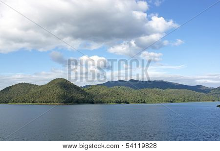 Dam Sky Mountain Nature.