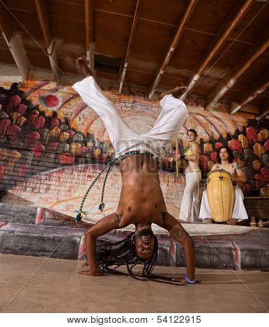 Capoeira Man In Handstand