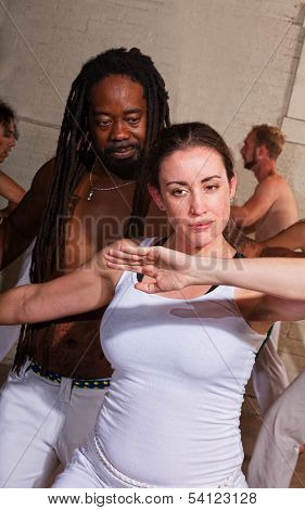 Capoeira Master With Student