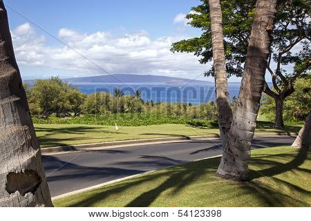 View Of Lanai From Maui