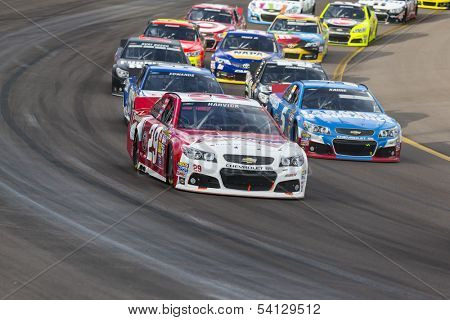 Avondale, AZ - Nov 10, 2013:  Kevin Harvick (29) brings his race car through the turns during the AdvoCare 500 race at the Phoenix International Raceway in Avondale, AZ on Nov 10, 2013.