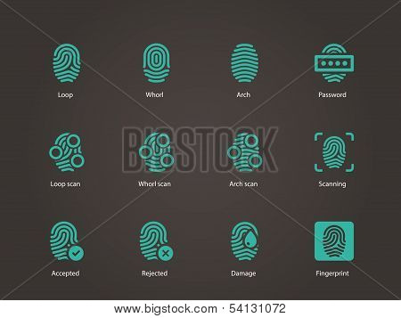 Fingerprint icons.