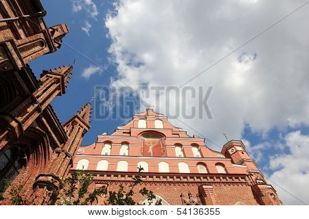 St Anna's Church and Sts Francis and Bernardine Church in Vilnius,  Lithuania.