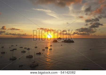 Sunset At Gustavia Harbor, St. Barts, French West Indie