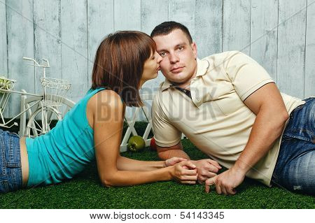 Married Couple On The Lawn