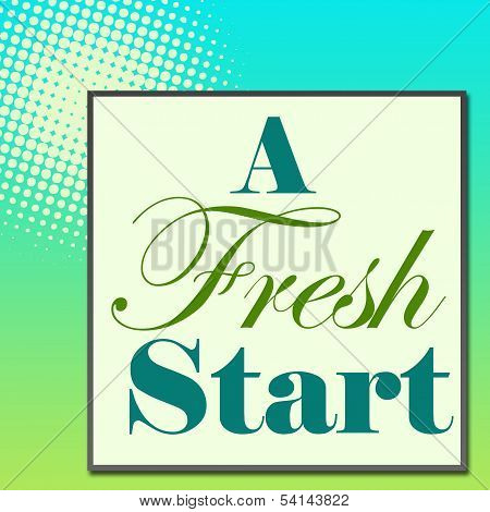 A Fresh Start Green Turquose