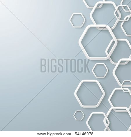 White Right Hexagons