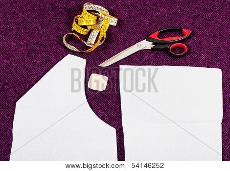 Tailor Tools And Pattern Cutting Of Clothes