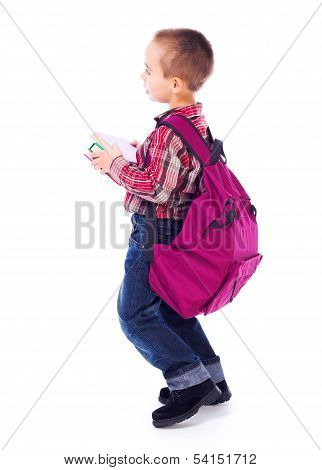 Little Boy With Big School Bag