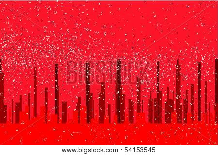 Red City Background