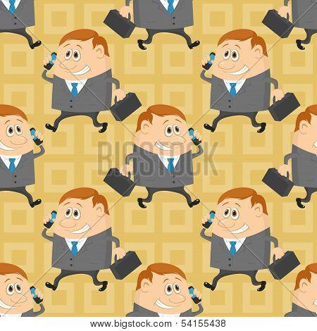 Businessman, seamless pattern