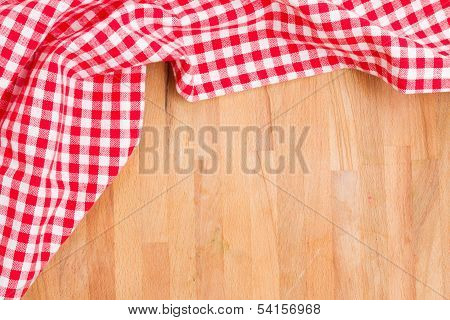 empty table and  red napkin