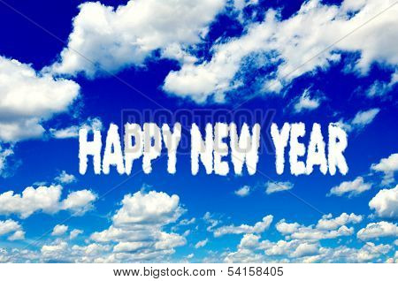 Happy New Year Clouds
