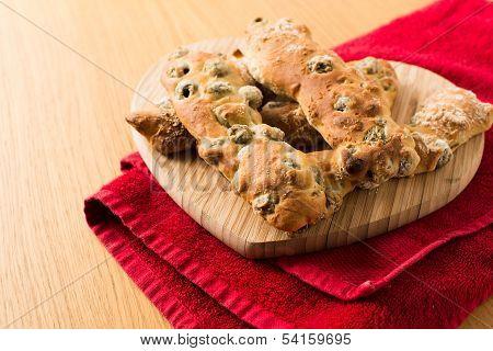 Chunky Italian Olive Breadsticks