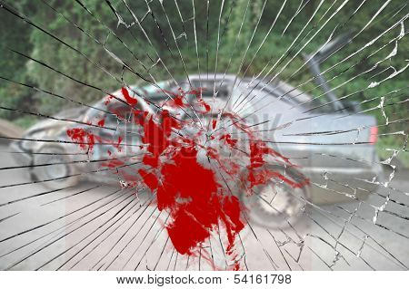 Bloody Horrible Car Crash
