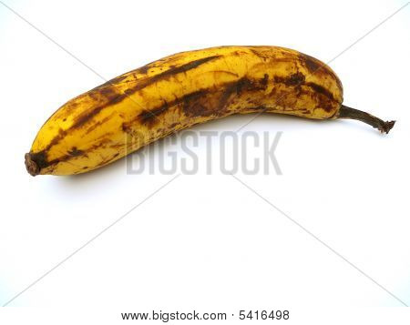 Rotten Banana Isolated On White